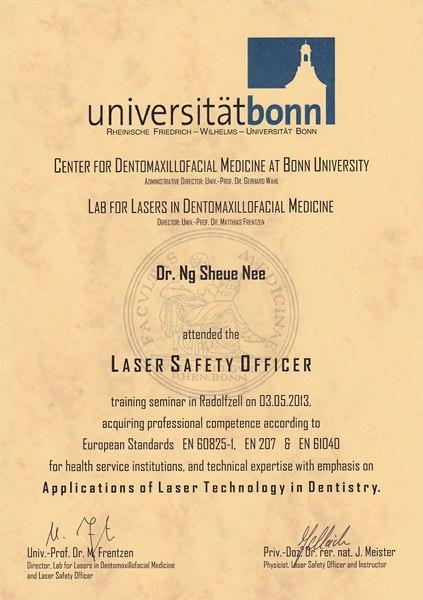 Dr. Ng Sheue Nee - Laser Safety Officer